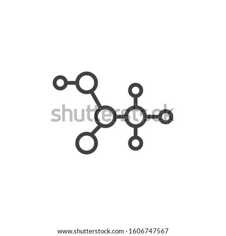 c2h4o2 molecular formula line icon. linear style sign for mobile concept and web design. Acetic acid structure outline vector icon. Symbol, logo illustration. Vector graphics
