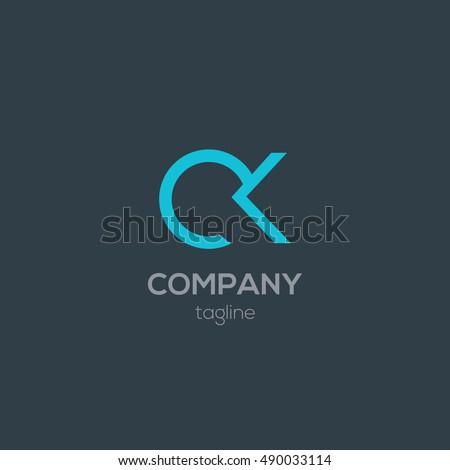 C & K Letter logo design  Stok fotoğraf ©