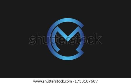 C , M , CM , MC letter logo design and monogram logo. Initial letter mc/cm logotype company name design. Zdjęcia stock ©