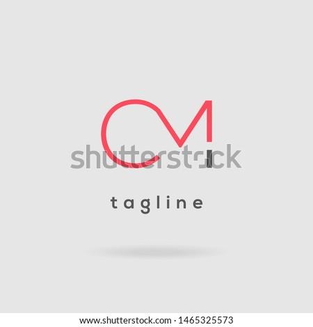C M Double letter logo design vector template Stock fotó ©
