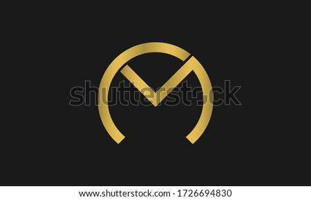 C , M , MC , CM letter logo design and monogram logo. Initial letter mc/cm logotype company name design. CM Logo Emblem Capital Letter Modern Template. Stock fotó ©