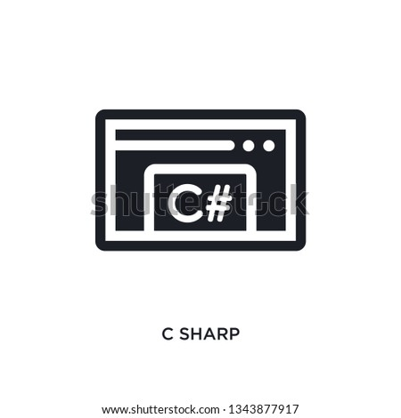 c sharp isolated icon. simple element illustration from programming concept icons. c sharp editable logo sign symbol design on white background. can be use for web and mobile