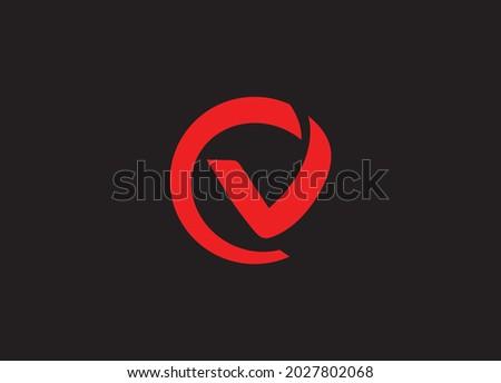 c v initial letter vector logo Zdjęcia stock ©