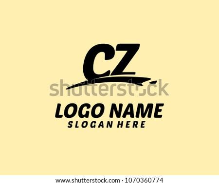 C Z Initial logo Zdjęcia stock ©