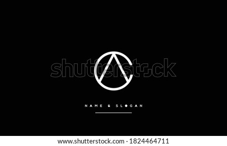 CA ,AC,C,A  Abstract letters Logo Monogram Foto stock ©