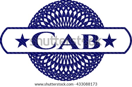 Cab emblem with jean high quality background