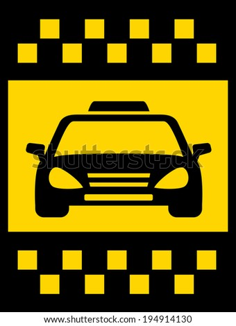 cab transport background with black taxi car