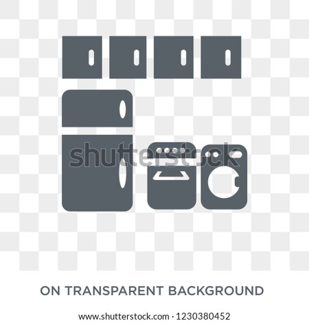 Cabinets icon. Cabinets design concept from Furniture and household collection. Simple element vector illustration on transparent background.