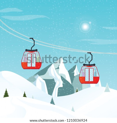 cable cars or aerial lift