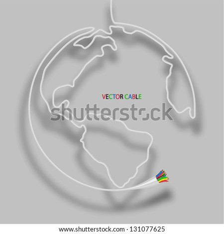 Cable globe Vector illustration