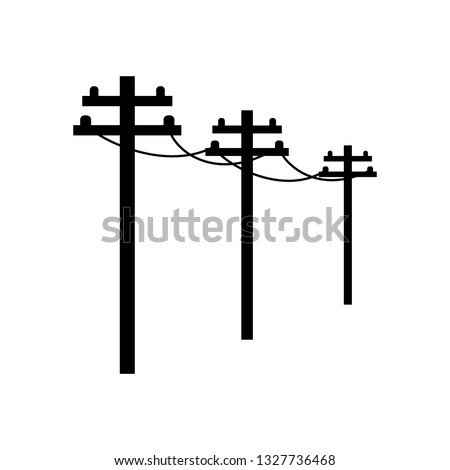 cable power line  black on