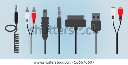 HDMI Vector Cable Set - Download Free Vector Art, Stock Graphics ...