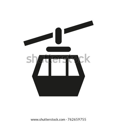 Cableway cabin icon