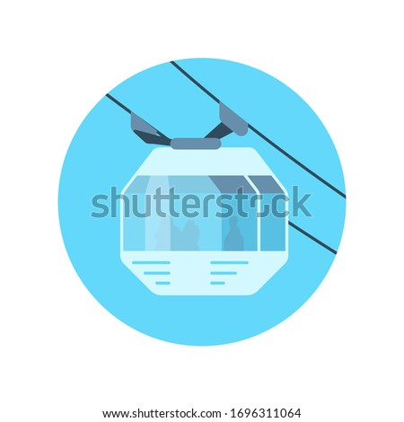 cableway car icon isolated