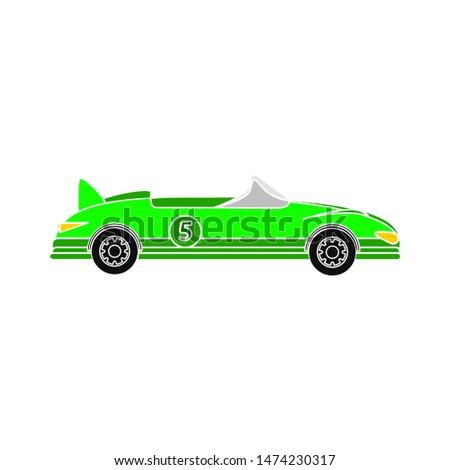 cabriolet car icon. flat illustration of cabriolet car vector icon. cabriolet car sign symbol