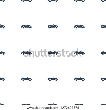 cabriolet icon pattern seamless white background. Editable filled cabriolet icon. cabriolet icon pattern for web and mobile.
