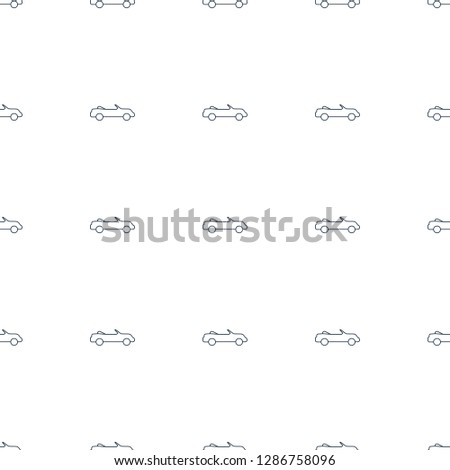 cabriolet icon pattern seamless white background. Editable line cabriolet icon. cabriolet icon pattern for web and mobile.