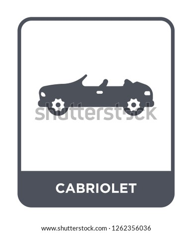 cabriolet icon vector on white background, cabriolet trendy filled icons from Transportation collection, cabriolet simple element illustration