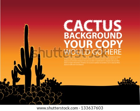 cactus background eps 8 vector