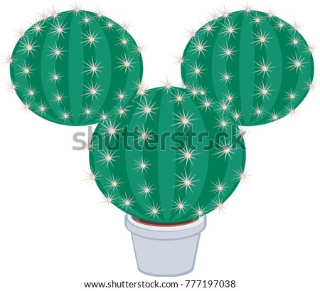 cactus grew up in the shape of a mouse #777197038