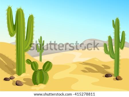 cactus in the desert natural