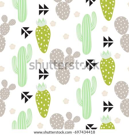 cactus plant vector seamless