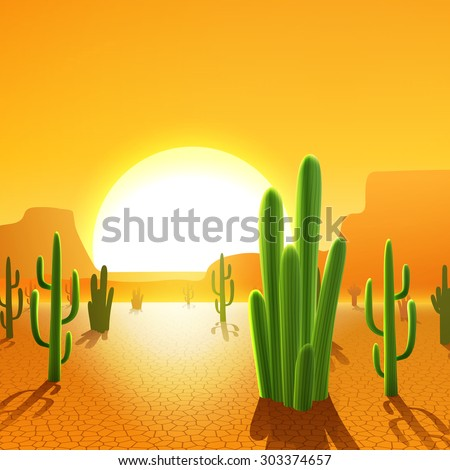 cactus plants in mexican desert