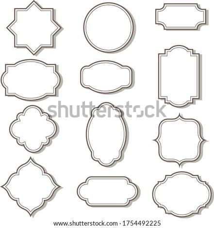 Cadre clip art graphics & vector arts Photo stock ©