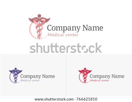 Caduceus, medical center logo, woman's consultation, gynecology center, gynecology, pregnancy, gynecology consultation