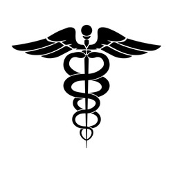 Caduceus symbol icon. Medicine symbol icon. Vector