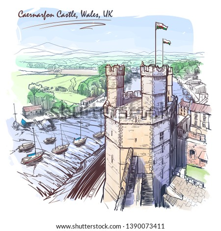caernarfon castle  north wales