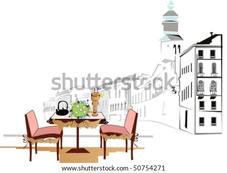 Cafe in the city