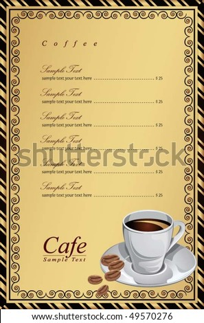 Cafe Menu Cover 2