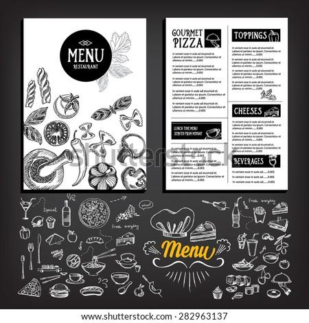 cafe menu restaurant brochure