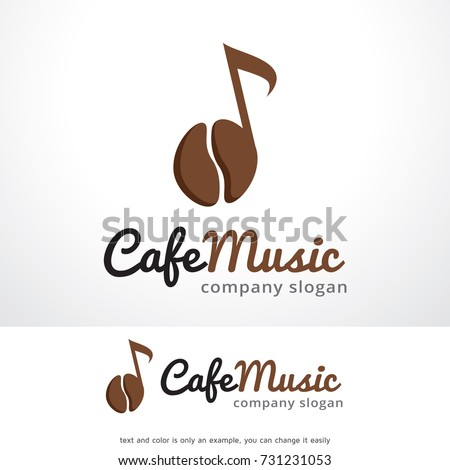 cafe music logo template