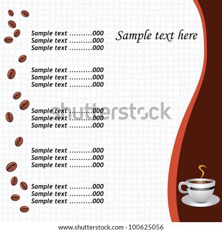 Stock illustrationtemplate coffee shop menuimage21586451 world coffee shop menu on cafe of coffee shop menu card vector image 100625056 shutterstock fandeluxe Gallery