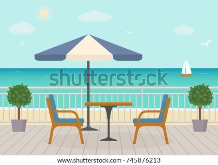 cafe on the terrace near the