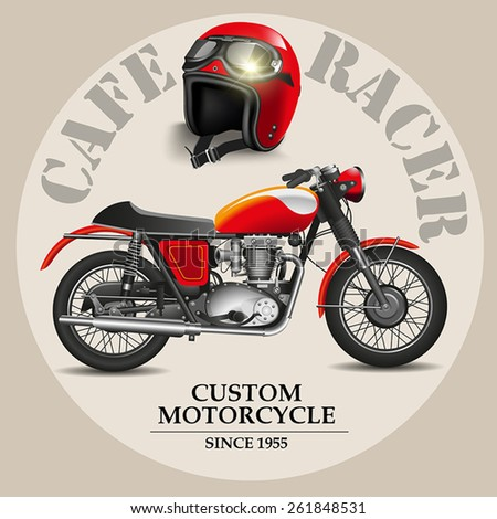 cafe racer style motorbike with
