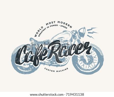 cafe racer vintage motorcycle...