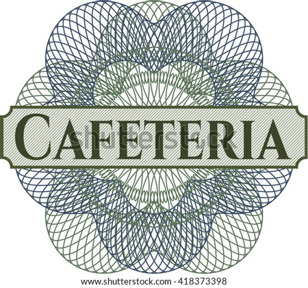 Cafeteria abstract rosette