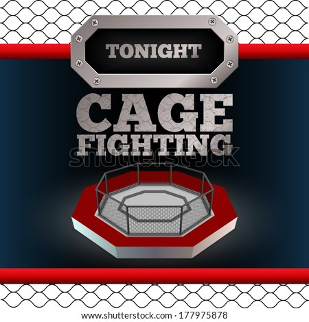 cage fighting mma poster