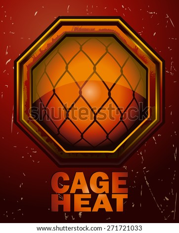 cage heat mma octagon sign