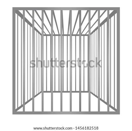 Cage metal bars. vector illustration Foto stock ©