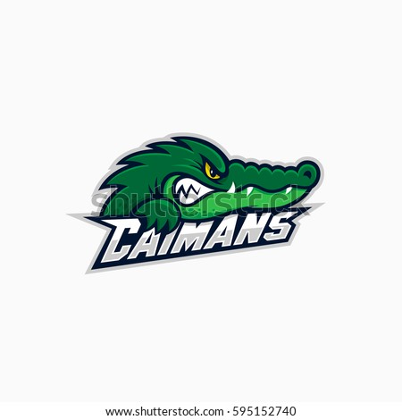 caiman mascot for a sport team