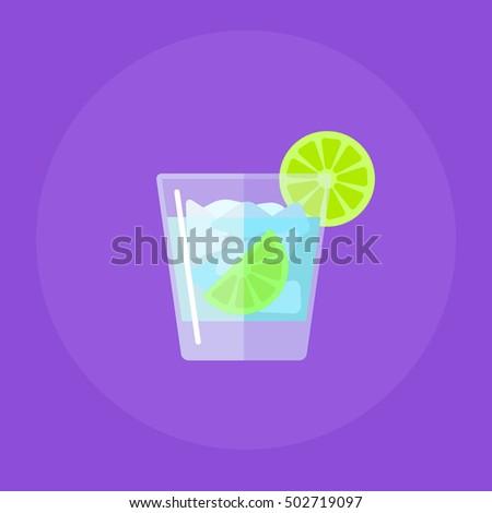 caipirinha  cocktail flat icon
