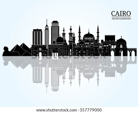 cairo detailed skyline vector