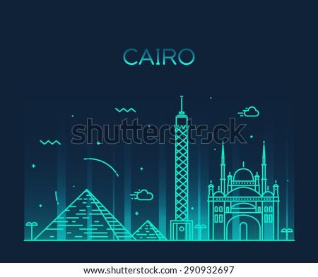 cairo skyline  detailed