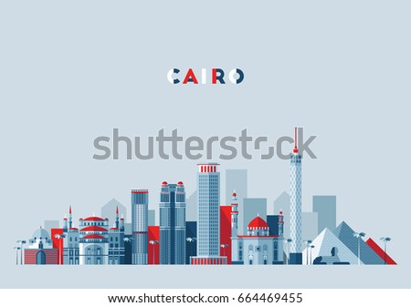 cairo skyline  egypt  vector