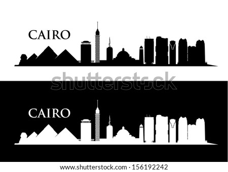 cairo skyline   vector