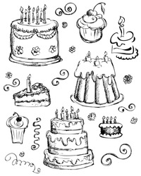 cake birthday draw sketch doodle illustrated vector food art cartoon birthday cake cartoon cake birthday draw sketch doodle illustrated vector food art cartoon cocoa cherry brown cream vacation pastry